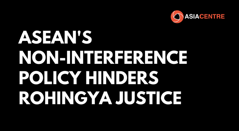ASEAN's non-interference policy hinders Rohingya justice