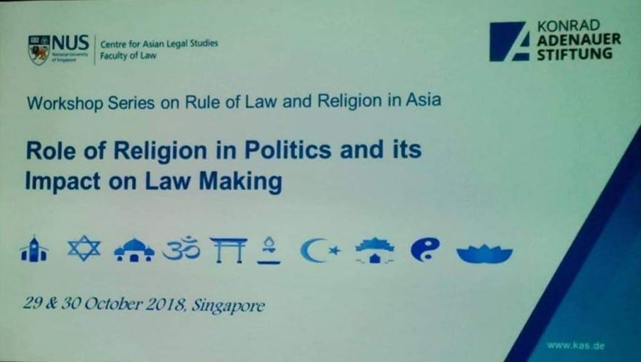 Asia Centre Participates in Workshop on Freedom of Religion or Belief