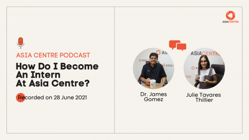 Read more about the article Asia Centre Internship Podcast