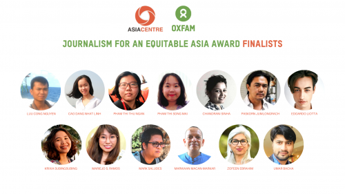 Asia Centre and Oxfam Announce 2020-21 Journalism Award Finalists