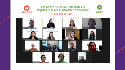 Women Lead 2019-20 Journalism for an Equitable Asia Awards